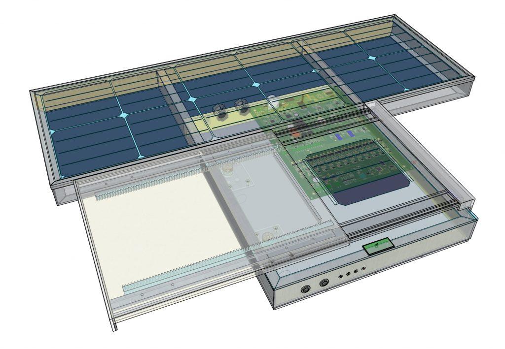 PV soiling station